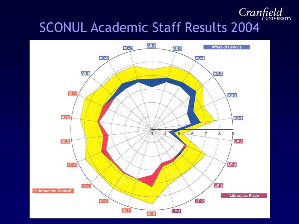 SCONUL Academic Staff Results 2004