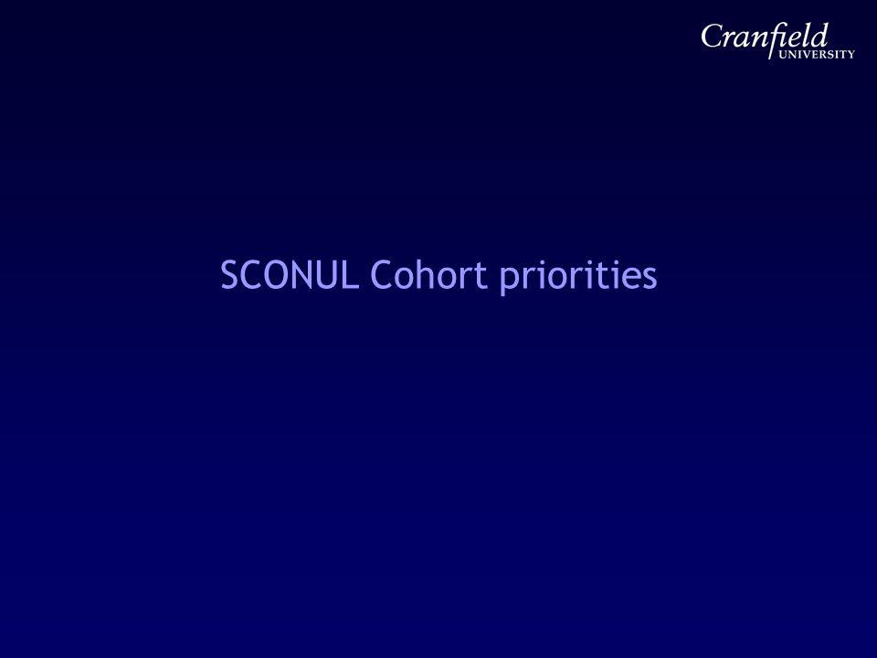 SCONUL Cohort priorities