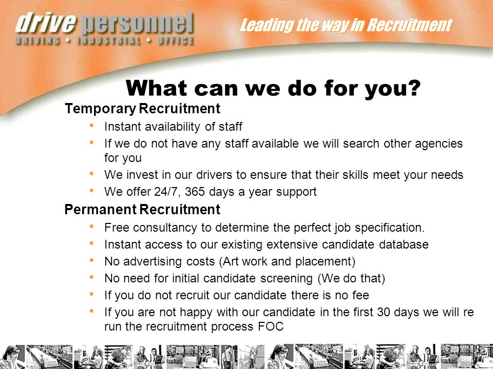 Leading the way in Recruitment What can we do for you.