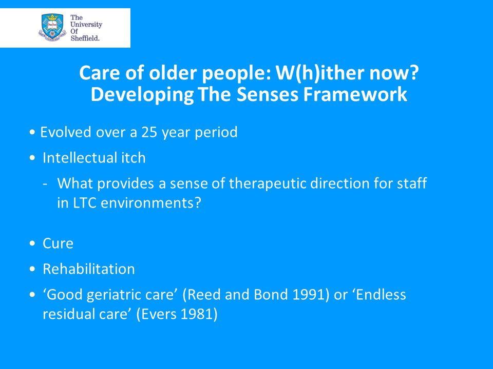 Care of older people: W(h)ither now.