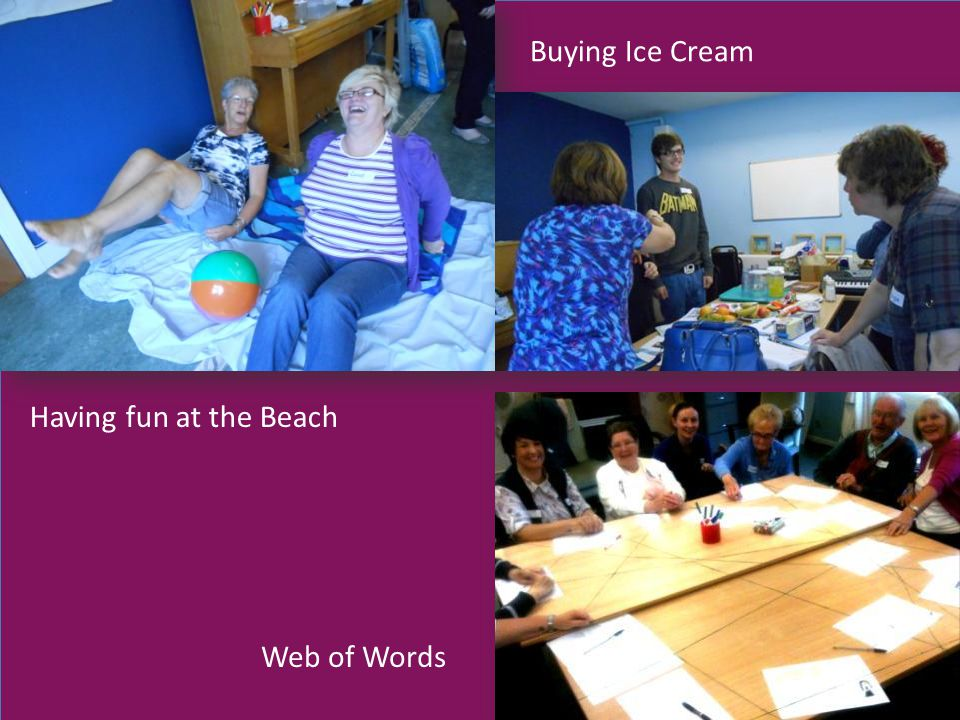 Having fun at the Beach Buying Ice Cream Web of Words