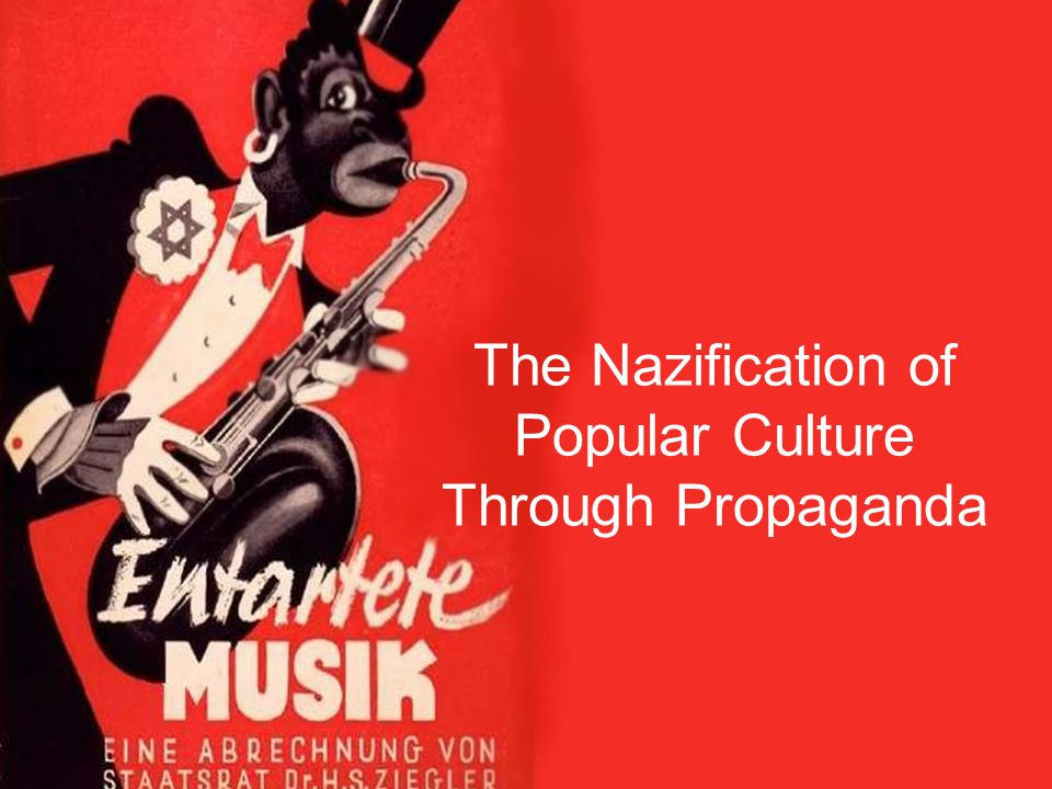 The Nazis believed that the Weimar cultural boom was representative of a slip in moral standards.