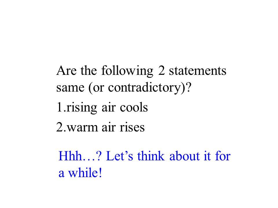 Rising and Sinking Air