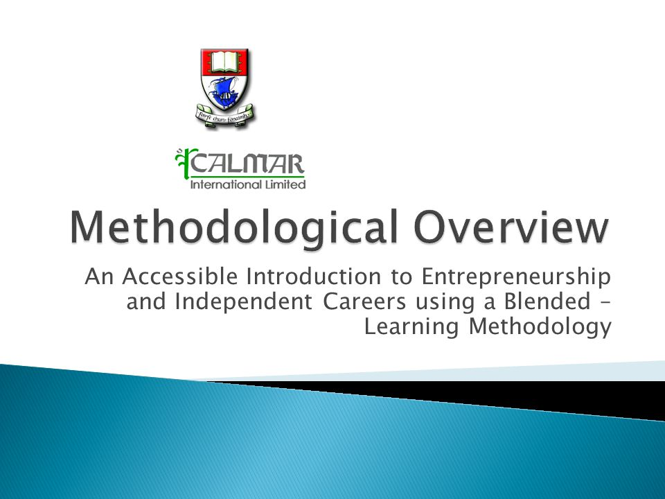 An Accessible Introduction to Entrepreneurship and Independent Careers using a Blended – Learning Methodology
