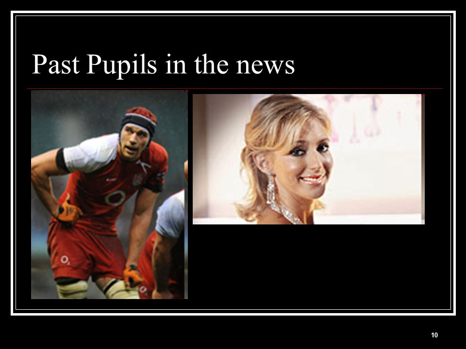 10 Past Pupils in the news