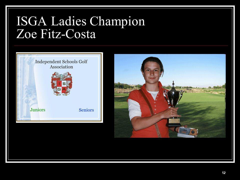 12 ISGA Ladies Champion Zoe Fitz-Costa