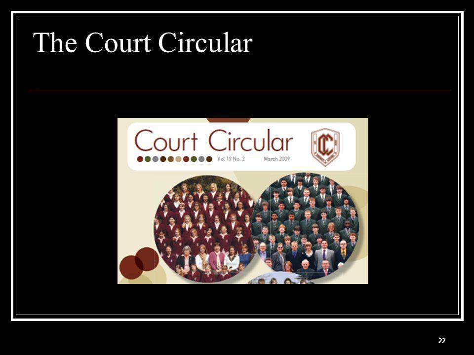 22 The Court Circular