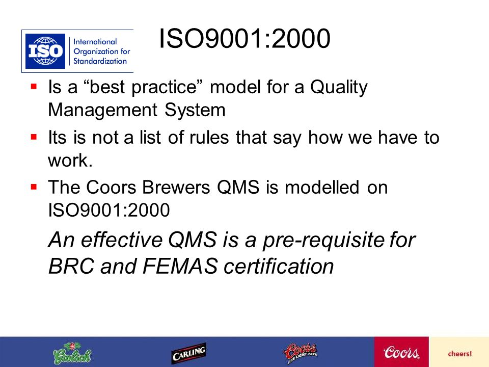 What does having a Quality Management System require us to do.