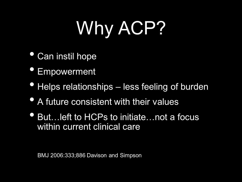 Why ACP.