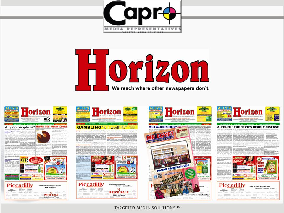 Horizon is a free monthly publication aimed at social development, social reformation and self empowerment.