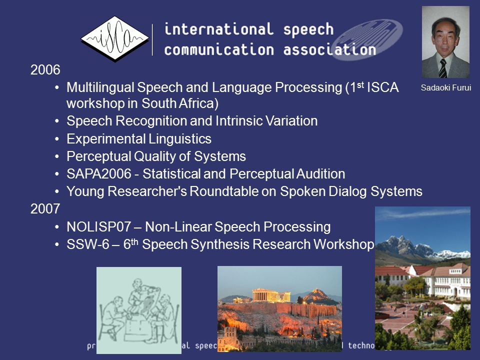 2006 Multilingual Speech and Language Processing (1 st ISCA workshop in South Africa) Speech Recognition and Intrinsic Variation Experimental Linguist