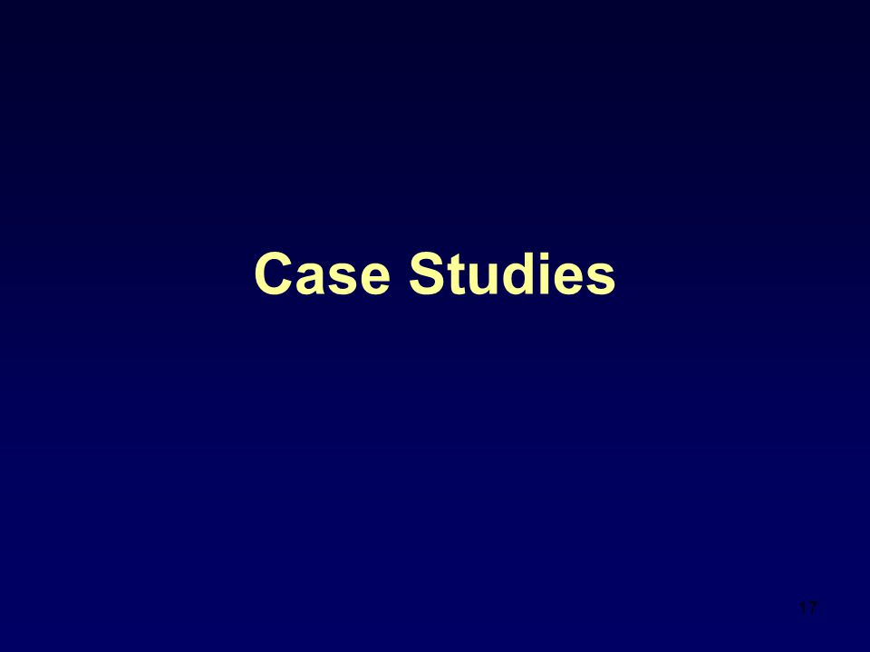 17 Case Studies