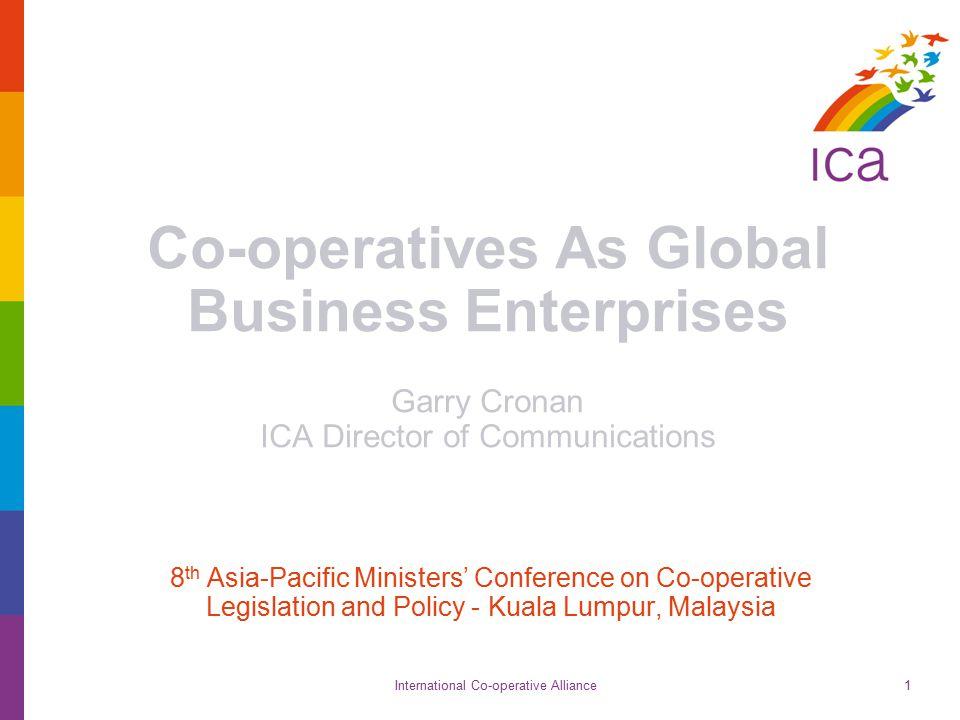 International Co-operative Alliance Global 300 22 Do co-operatives make economies more competitive?