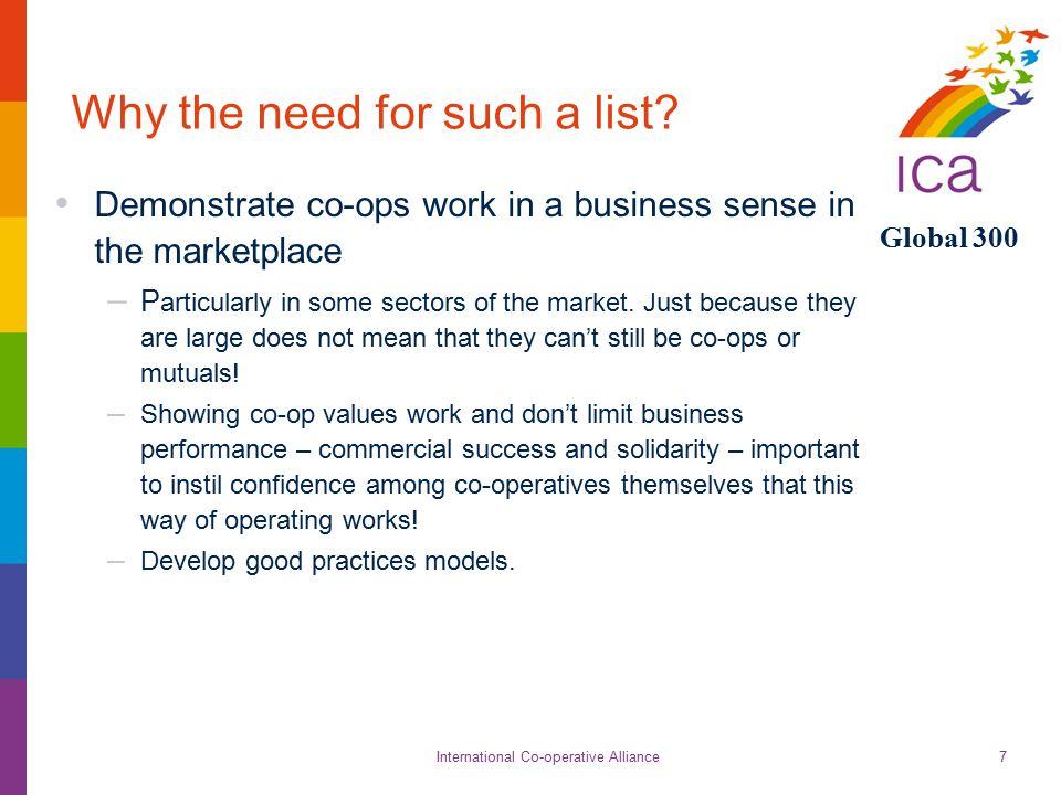International Co-operative Alliance Global 300 18 www.global300.coop