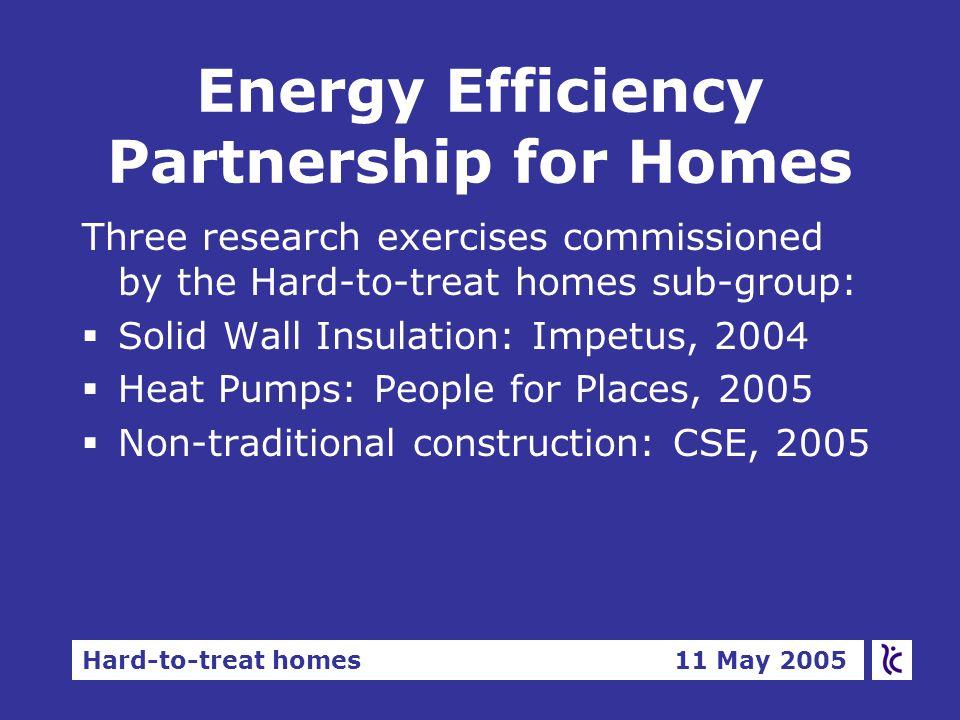 Hard-to-treat homes 11 May 2005 Fuel poverty and non- traditional construction Ian Preston, CSE Dr Richard Moore