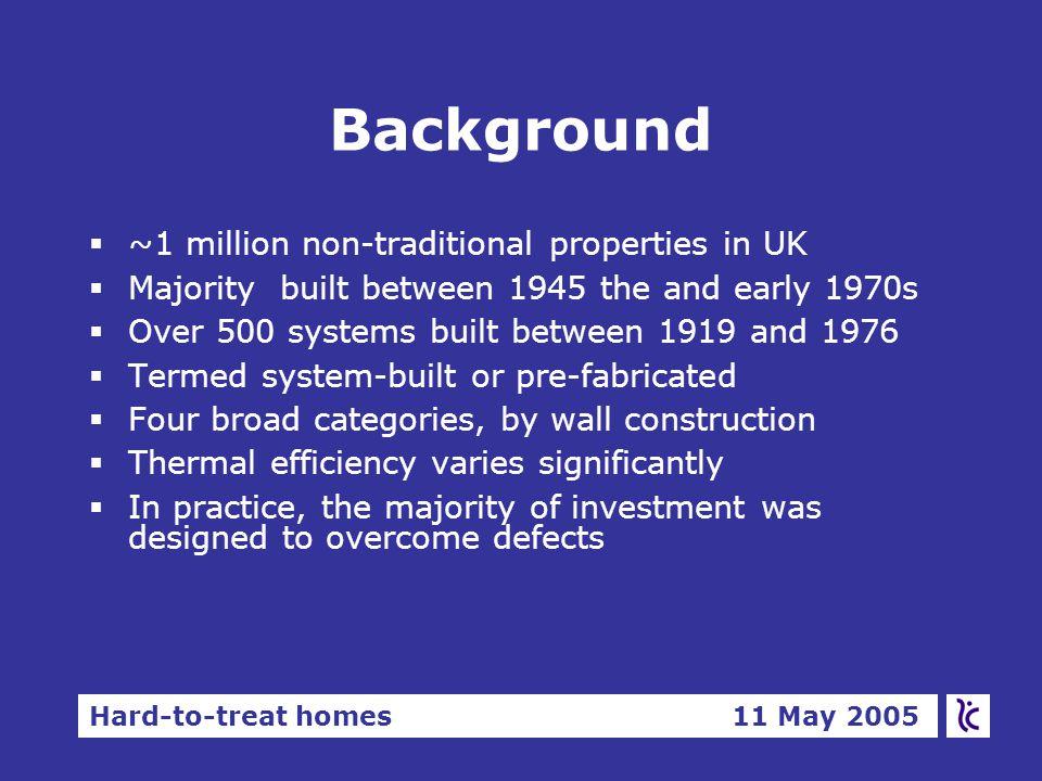 Hard-to-treat homes 11 May 2005 Types of heat pump §Ground to water §Ground to air §Water to water §Water to air §Air to water §Air to air