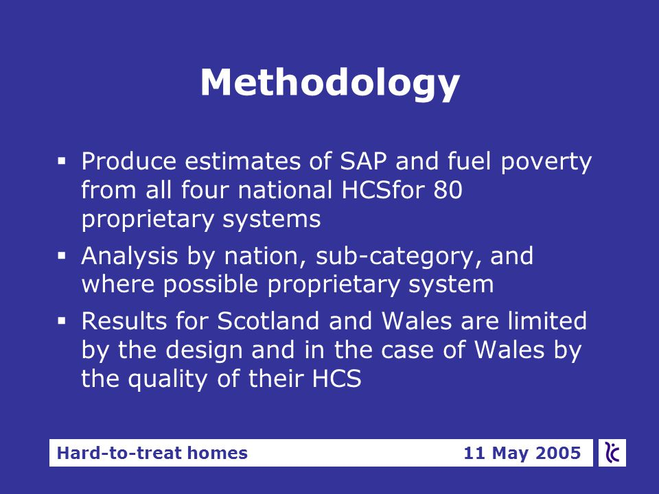 Hard-to-treat homes 11 May 2005 Conclusions - suitability.