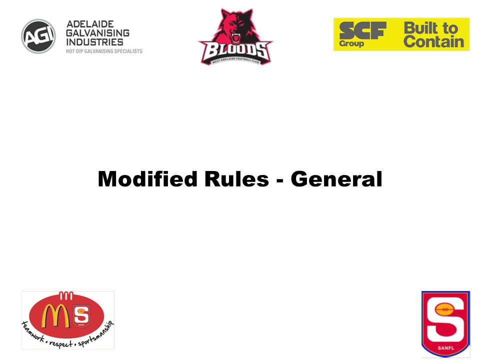 Modified Rules - General