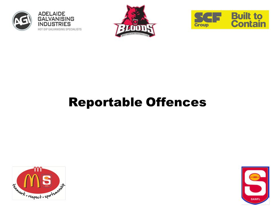 Reportable Offences