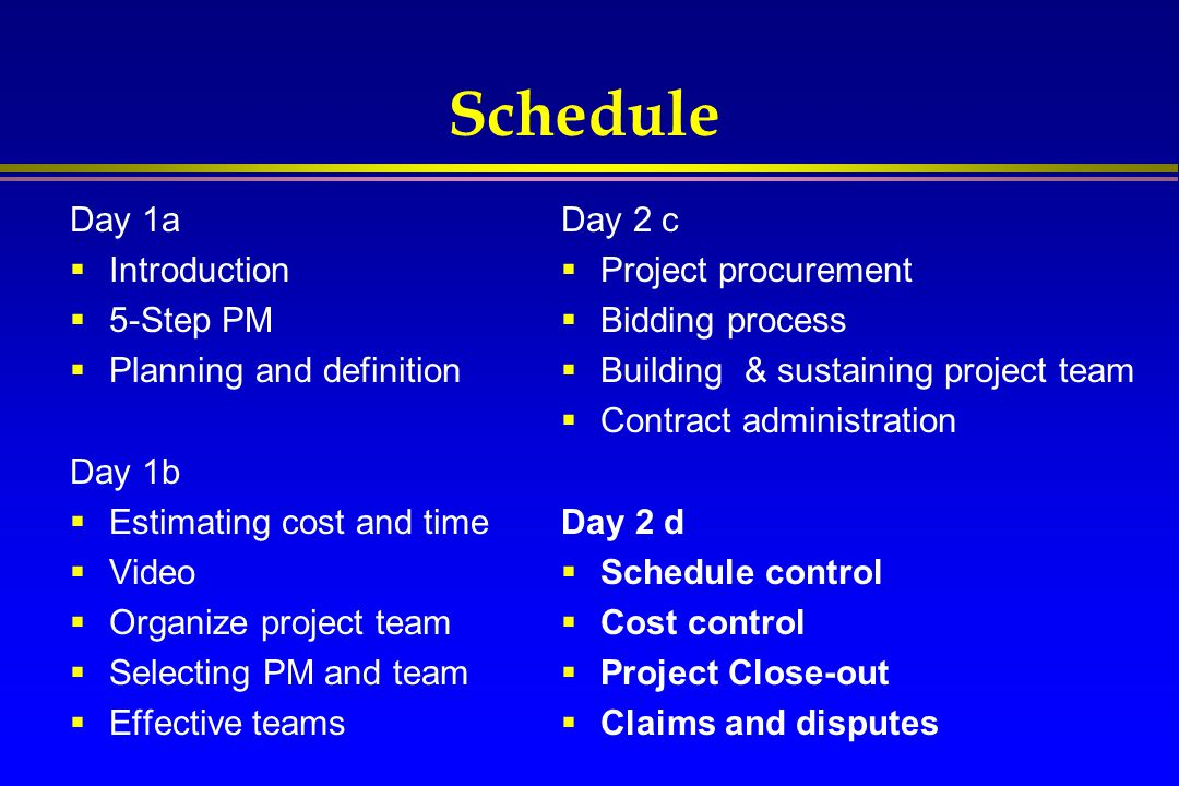 Concluding Remarks  Projects - an increasingly important way of working  Project management is challenging, rewarding  Keep it simple, use aspects of project management that make sense  Don't be an Accidental Project Manager  Its OK to make mistakes…learn from them to improve project management practices