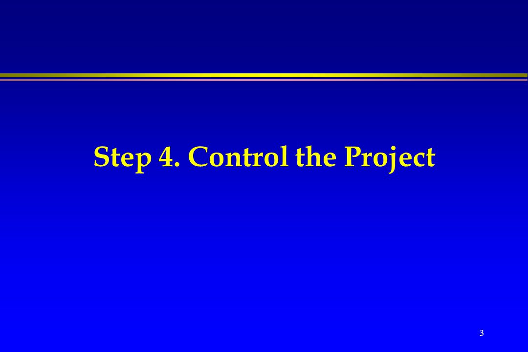 5-Step Project Management PLANNING IMPLEMENTATION DEFINE Identify project activities Estimate time and cost Quality and Communicat ion management Write Project Proposal ORGANIZE CONTROL PLANCLOSE State the Problem Identify Project Goal List the Objectives Determine Preliminary Resources Identify Risks and stakeholders Success criteria Determine Personnel Needs Recruit Project Manger Recruit Project Team Organize Project Team Bidding Assign Work Packages Define Management Style Establish Control Tools Prepare Status Reports Review Project Schedule, cost, team report Issue Change Orders Obtain Client Acceptance Install Deliverables and Commissioning Document the Project Issue Final Report Conduct Post- Implementation Audit Project charter WBS Recruit Criteria Variance Reports Final Report Project network Define Work packages Status Reports Audit Reports Project proposal Assign Work Packages Decision