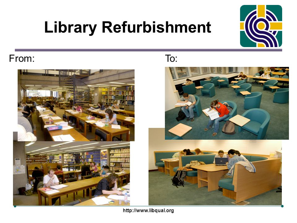 http://www.libqual.org Library Refurbishment From:To: