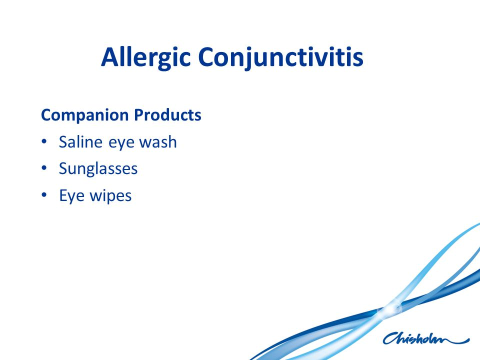 Allergic Conjunctivitis Companion Products Saline eye wash Sunglasses Eye wipes