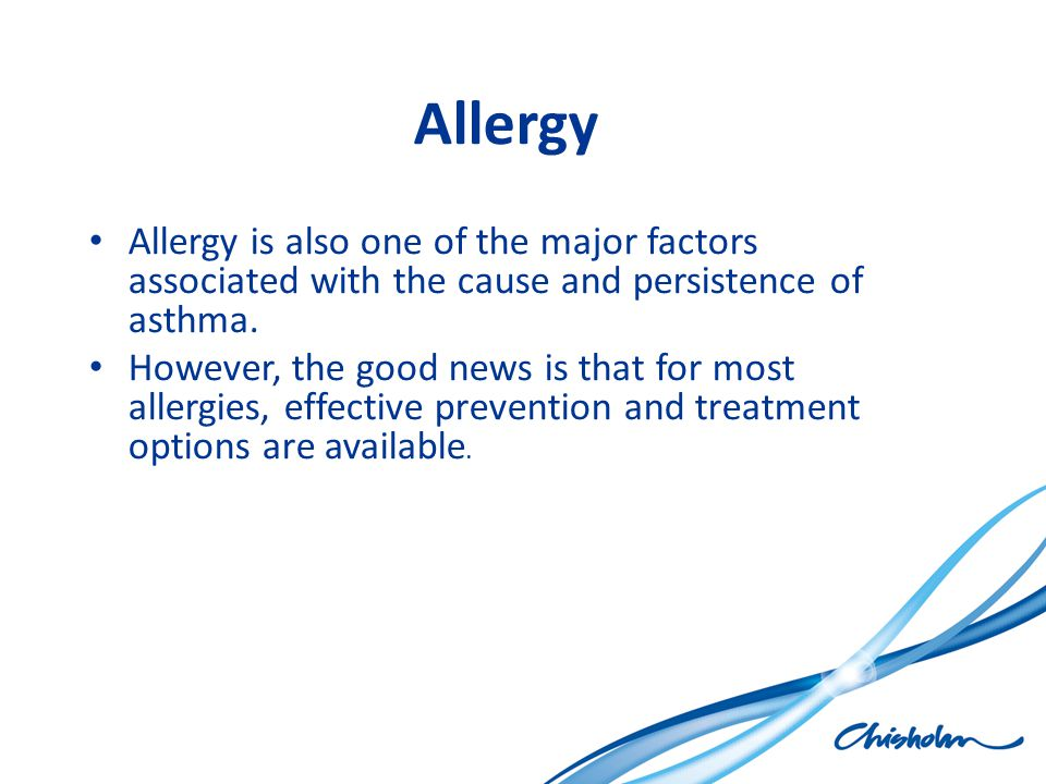 Allergy Which areas of the body can be affected.