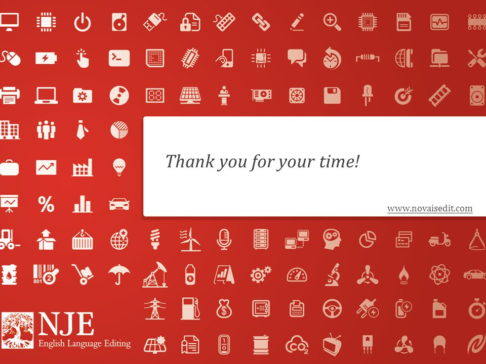 Thank you for your time! www.novaisedit.com