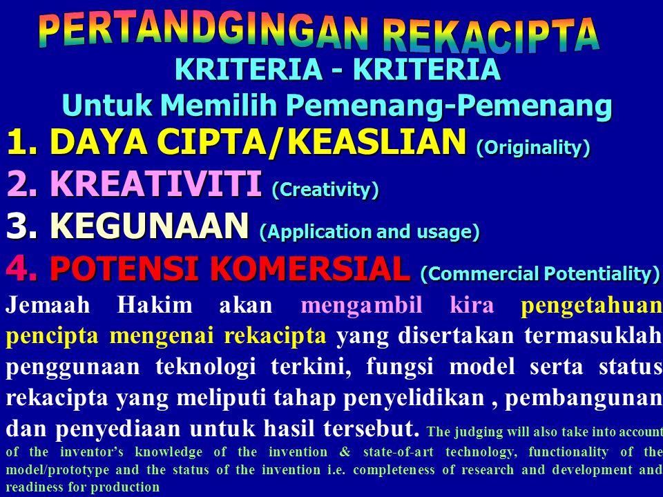 II - MENENGAH ATAS Tingkatan 4 - 5 /Senior. 1 -3 I - MENENGAH RENDAH Tingkatan 1-3 /Junior. 1 -3 2 KATEGORI Categories