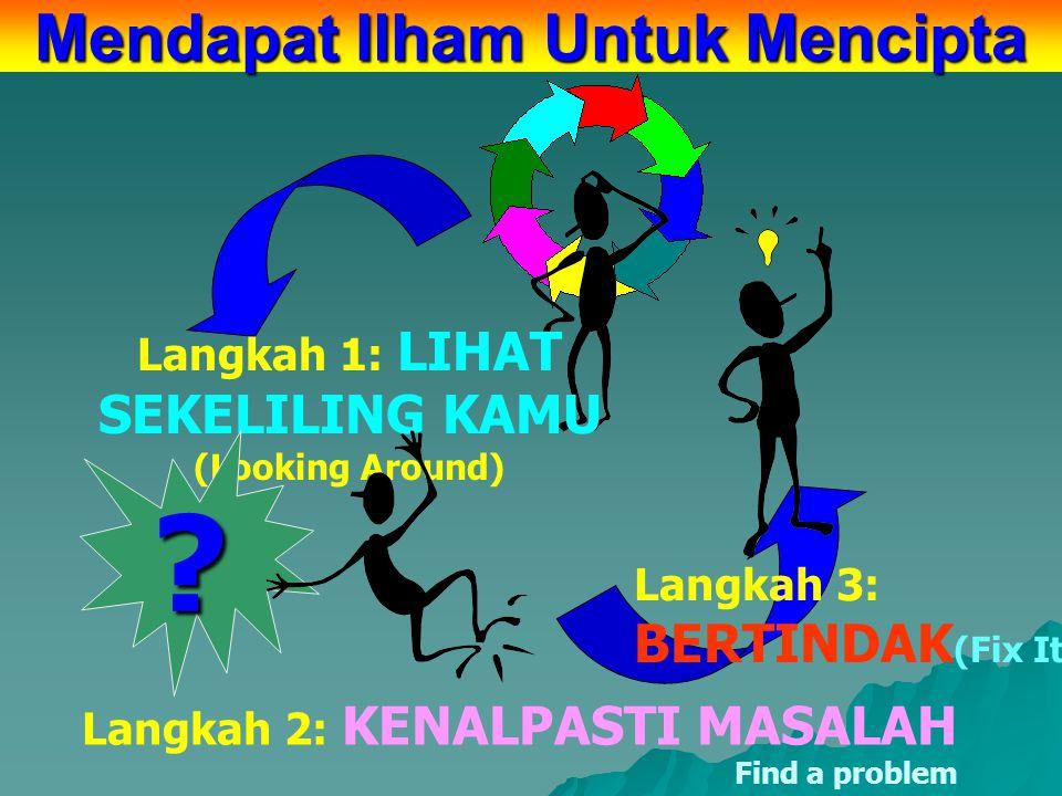 MENDAPAT ILHAM untuk MENCIPTA (Getting ideas/inspirations what to invent)