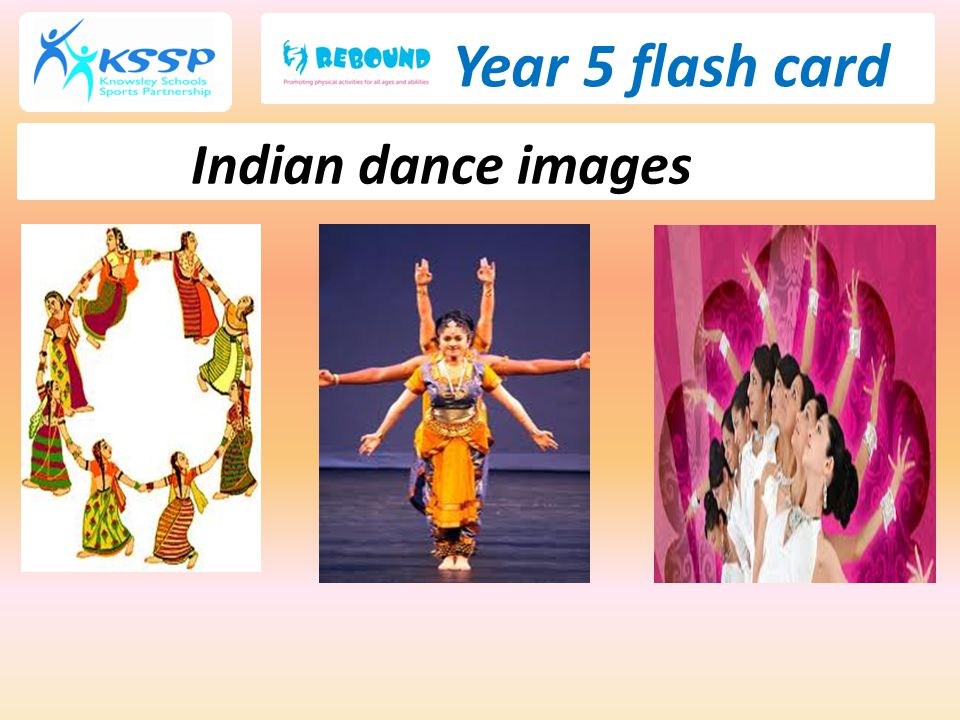 Year 5 flash card Indian dance images