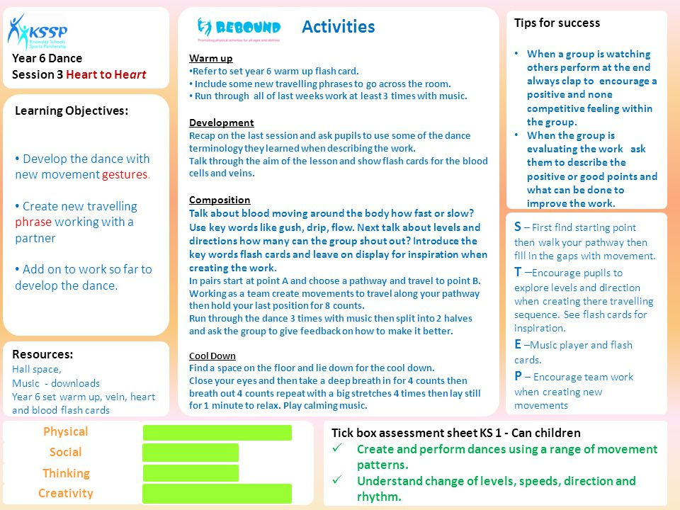 Activities Warm up Refer to set year 6 warm up flash card.