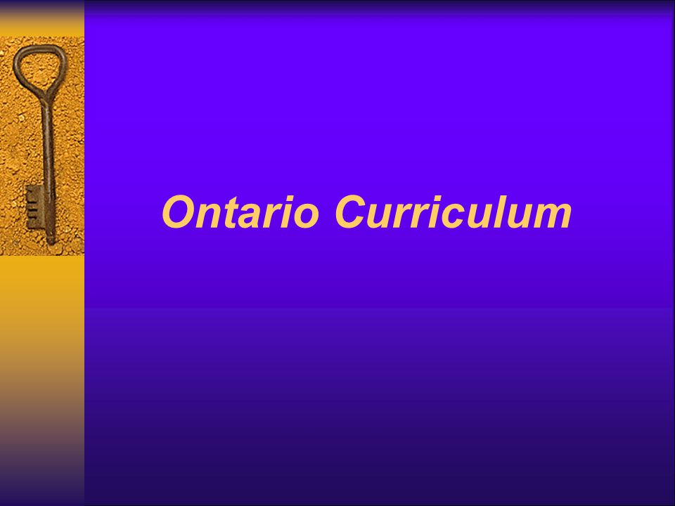 Ontario Curriculum
