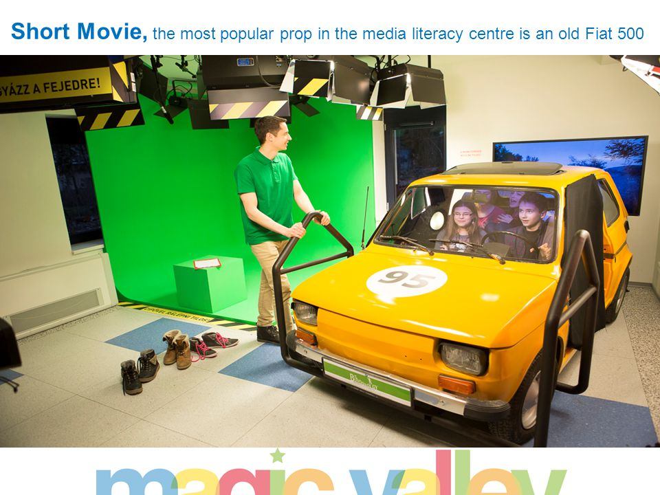 Short Movie, the most popular prop in the media literacy centre is an old Fiat 500