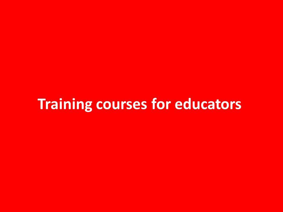 Training courses for educators