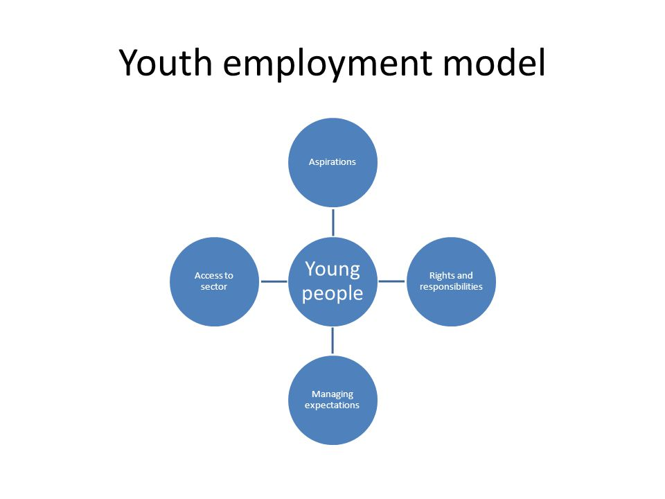 Youth employment model Young people Aspirations Rights and responsibilities Managing expectations Access to sector