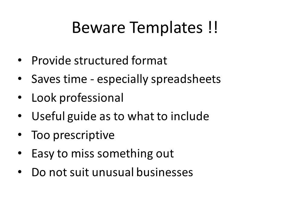 Beware Templates !.