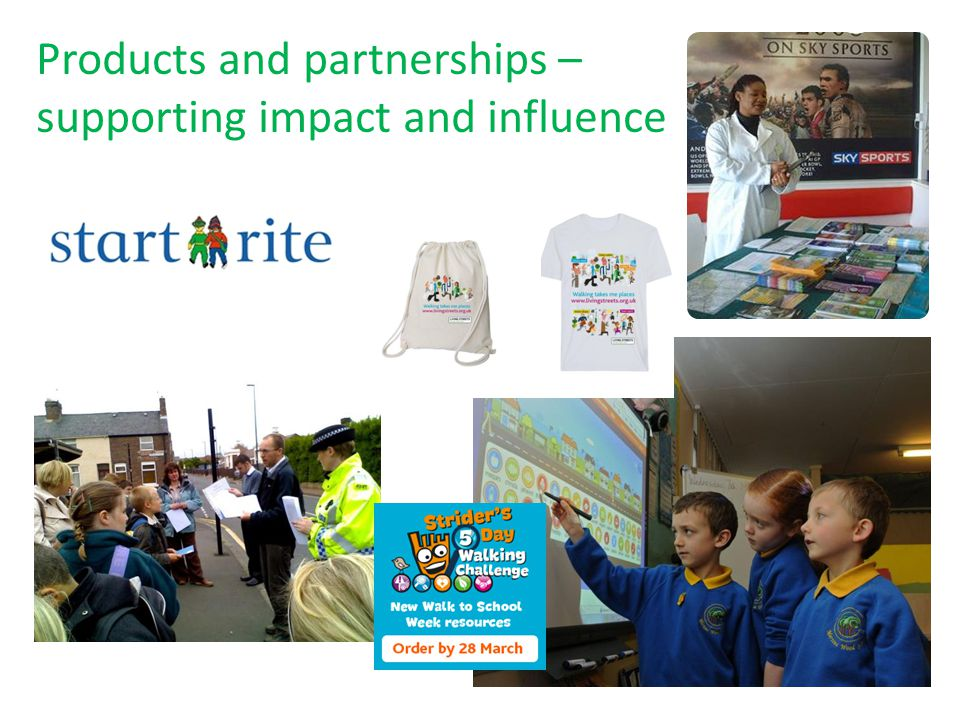 Products and partnerships – supporting impact and influence