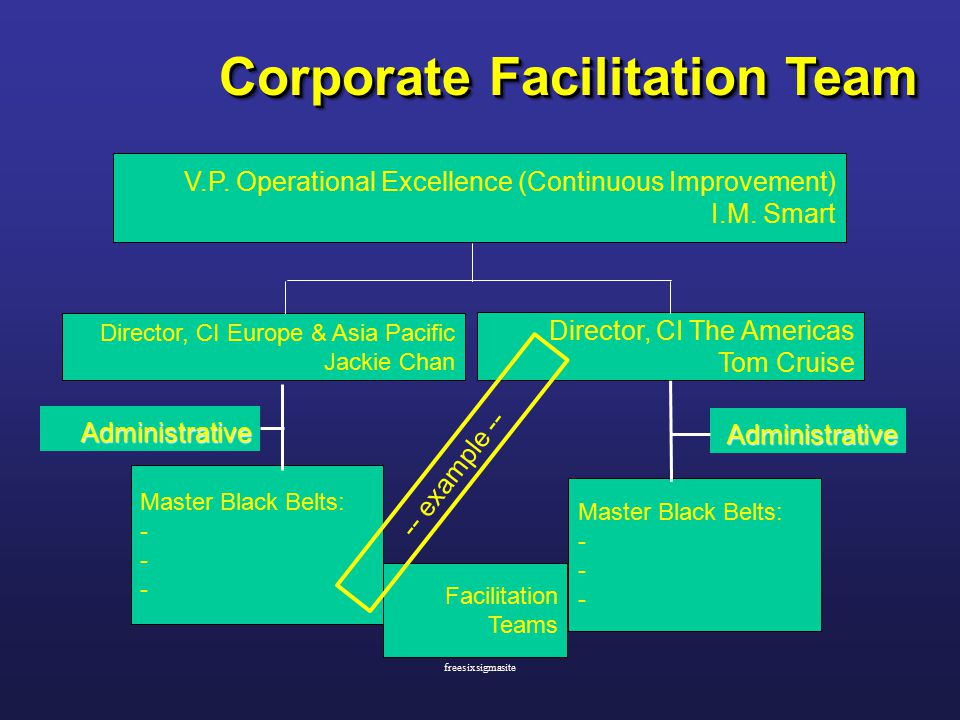 Corporate Facilitation Team V.P. Operational Excellence (Continuous Improvement) I.M.