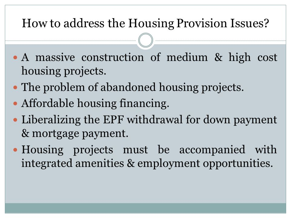 How to address the Housing Provision Issues.