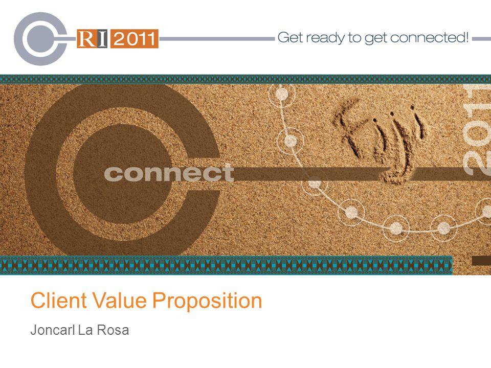 Client Value Proposition Joncarl La Rosa
