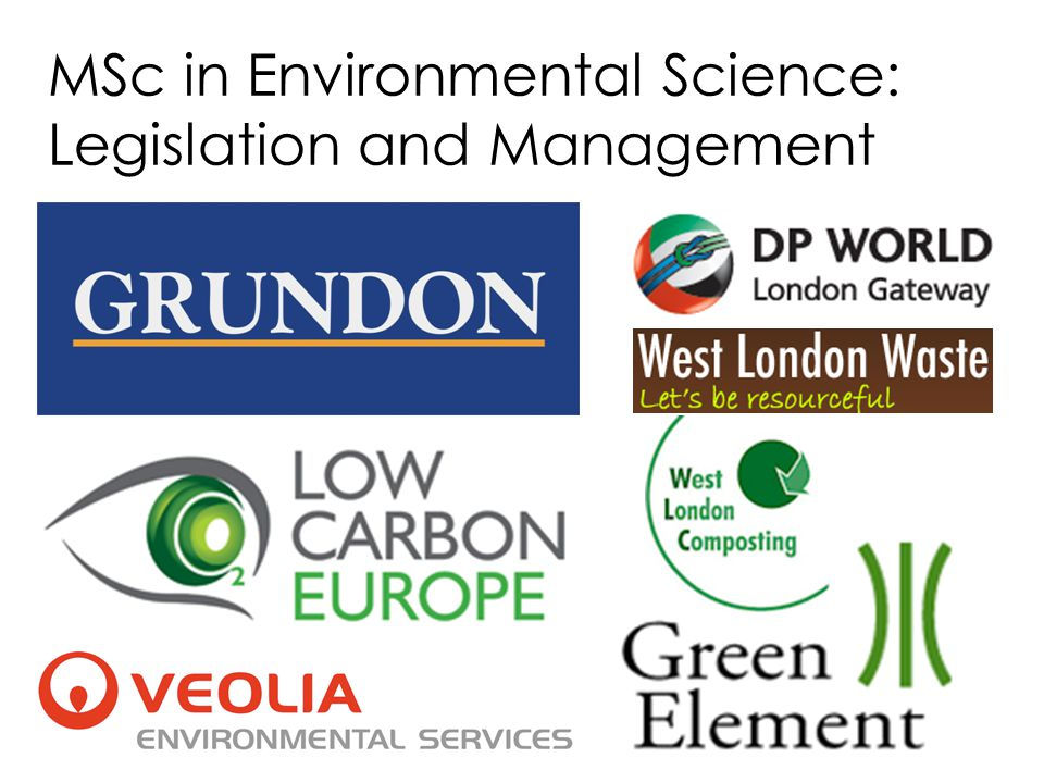 MSc in Environmental Science: Legislation and Management