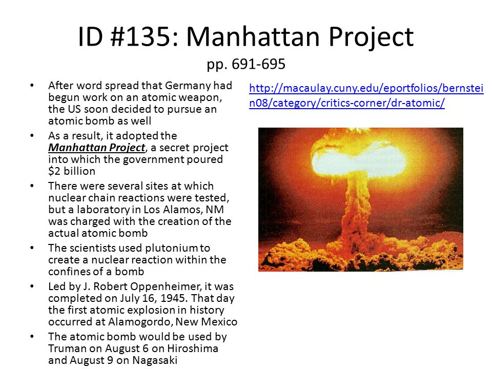 ID #135: Manhattan Project pp.