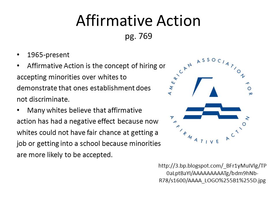 Affirmative Action pg.