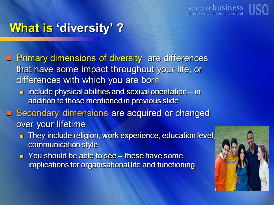What is 'diversity' .