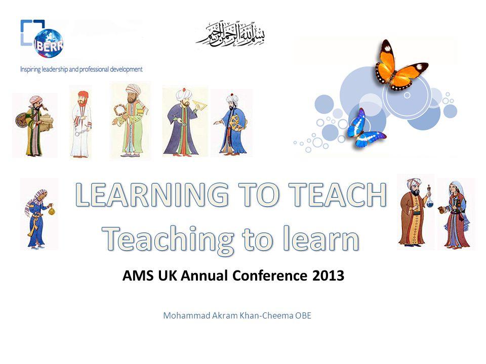 Mohammad Akram Khan-Cheema OBE AMS UK Annual Conference 2013