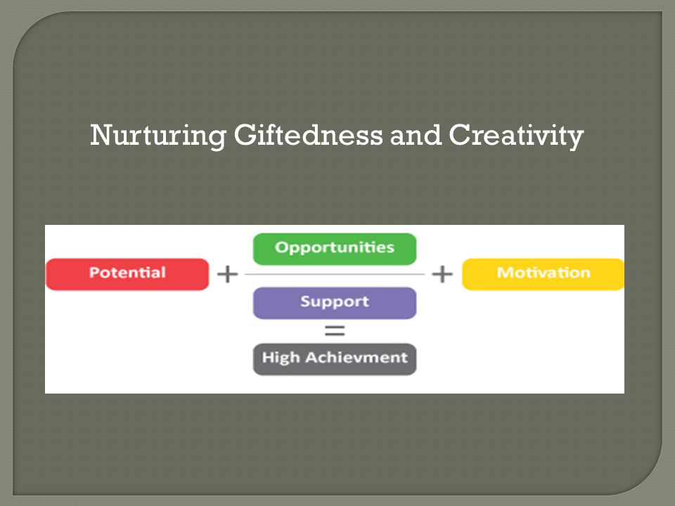 Nurturing Giftedness and Creativity