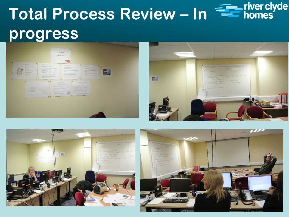 Intro slide Text Second level text Total Process Review – In progress 41