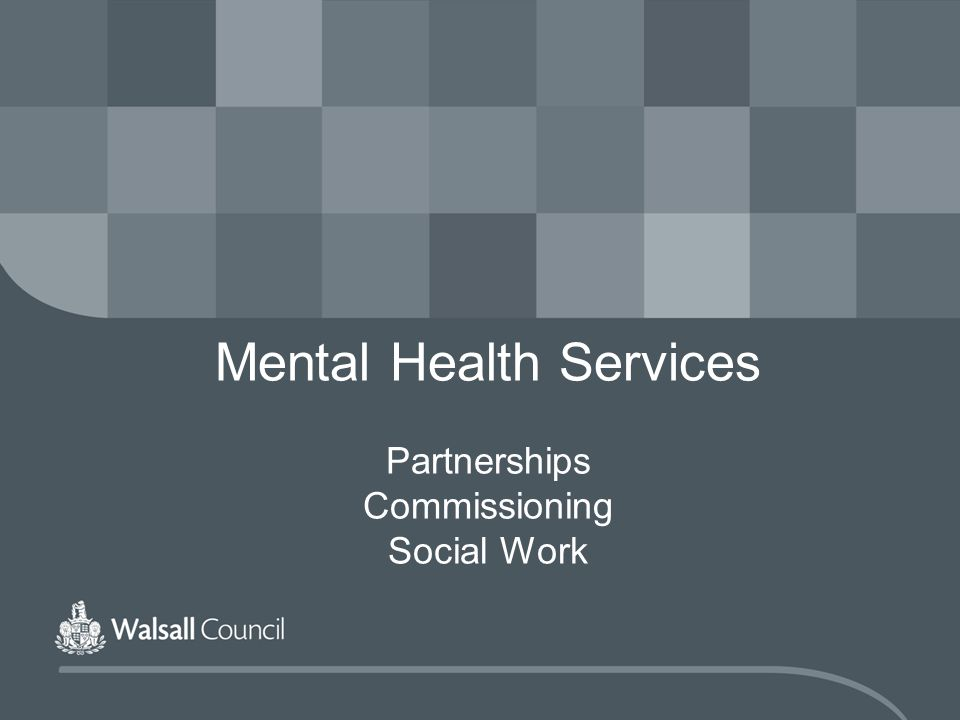 Mental Health Services Partnerships Commissioning Social Work